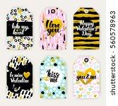 valentine day trendy gift...   Shutterstock .eps vector #560578963