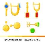 vector set of different earring ...   Shutterstock .eps vector #560584753
