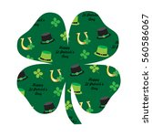 saint patrick's day pattern on... | Shutterstock .eps vector #560586067