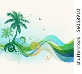 tropical background | Shutterstock .eps vector #56058910