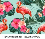beautiful seamless vector... | Shutterstock .eps vector #560589907