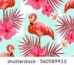 beautiful seamless vector... | Shutterstock .eps vector #560589913