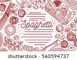 spaghetti | Shutterstock .eps vector #560594737
