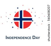 independence day of norway.... | Shutterstock .eps vector #560608207