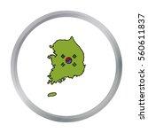 south korea icon in cartoon... | Shutterstock .eps vector #560611837