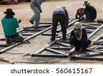 worker without welding...   Shutterstock . vector #560615167