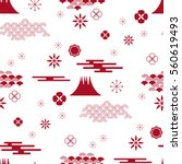 decorative seamless pattern... | Shutterstock .eps vector #560619493