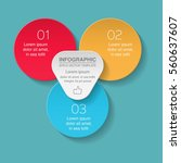 vector infographic template  3... | Shutterstock .eps vector #560637607