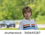 portrait of a boy with blurred...   Shutterstock . vector #560645287