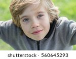 portrait of a boy with blurred...   Shutterstock . vector #560645293