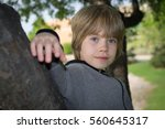 portrait of a boy playing in a...   Shutterstock . vector #560645317