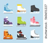 winter sports ice skating shoes ... | Shutterstock .eps vector #560651227