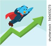 business bird with superpower... | Shutterstock .eps vector #560653273