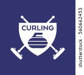 a vector curling badge... | Shutterstock .eps vector #560662453