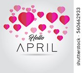 april. month of year with pink... | Shutterstock .eps vector #560662933