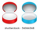 Red And Blue Jewelery Boxes