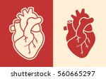 human heart icons isolated on... | Shutterstock .eps vector #560665297
