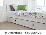 kid bedroom interior   Shutterstock . vector #560665423