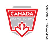 a canadian crest in vector... | Shutterstock .eps vector #560668027