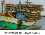 Thai Fishing Boat With Lobster...