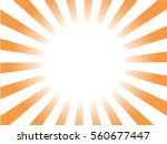 orange and white sunburst... | Shutterstock .eps vector #560677447