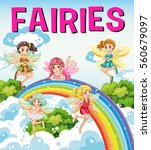 font design for word fairies... | Shutterstock .eps vector #560679097