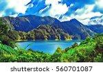 digital illustration   mountain ... | Shutterstock . vector #560701087