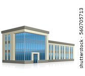 office building with entrance... | Shutterstock .eps vector #560705713