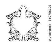 decorative frame. floral swirls ... | Shutterstock .eps vector #560706103