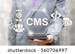 cms business web computer... | Shutterstock . vector #560706997