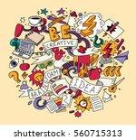 creative doodles idea...   Shutterstock . vector #560715313