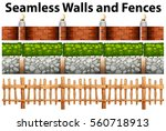 Seamless Walls And Fences In...