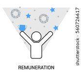 success  remuneration icon ... | Shutterstock .eps vector #560726617