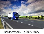 truck  on the road | Shutterstock . vector #560728027