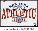athletic t shirt graphic | Shutterstock .eps vector #560742307