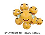 emojis icons with facial... | Shutterstock . vector #560743537
