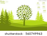 eco friendly. the concept of... | Shutterstock .eps vector #560749963