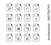file format flat icon set