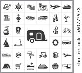 set of travel icons. contains... | Shutterstock .eps vector #560772973