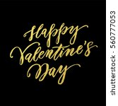 luxury gold valentines day text ... | Shutterstock .eps vector #560777053