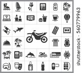 set of travel icons. contains... | Shutterstock .eps vector #560779963