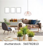 living room sofa and armchair... | Shutterstock . vector #560782813
