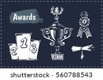 sketch icons   awards  trophy ... | Shutterstock .eps vector #560788543