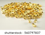 Gold Coins Isolated On A White...