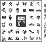 set of travel icons. contains...   Shutterstock .eps vector #560800813
