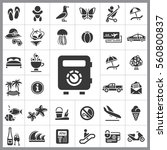 set of travel icons. contains... | Shutterstock .eps vector #560800837
