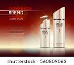 bottles of shampoo and shower...   Shutterstock .eps vector #560809063