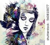 fashion vector illustration... | Shutterstock .eps vector #560810077