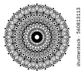 mandalas for coloring book.... | Shutterstock .eps vector #560813113