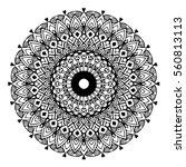 mandalas for coloring book.... | Shutterstock .eps vector #560813113